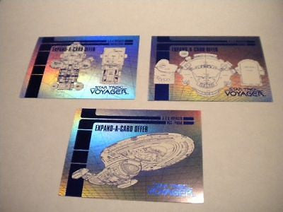 Star Trek Voyager blue prints foil insert card set 1995