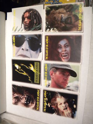 Island of Dr. Moreau movie rare test card set