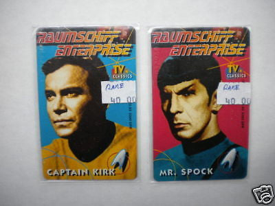 Star Trek German issued Capt. Kirk/ Spock phonecards set 1990