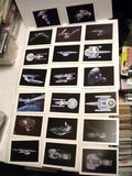 Star Trek 3 movie, ships complete insert cards set 1984