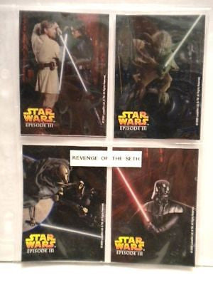 Star Wars Epsisode 3 movie duracell batteries limited issue 4 card set