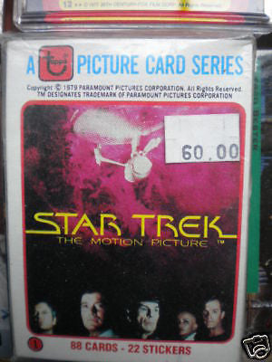 Star Trek first movie card /stickers set 1979