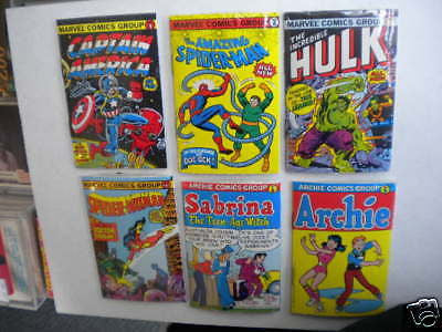 Marvel Mini 6 different comic books with gum rare set 1981