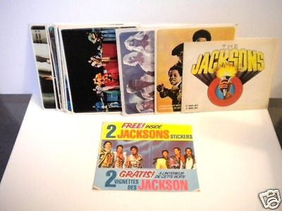 The Jacksons rare stickers complete card set 1984