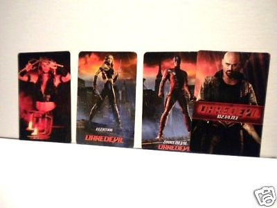 Daredevil movie rare four cards limited issue set