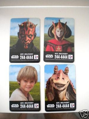 Star Wars rare KFC vintage 4 card set only in Canada 2001