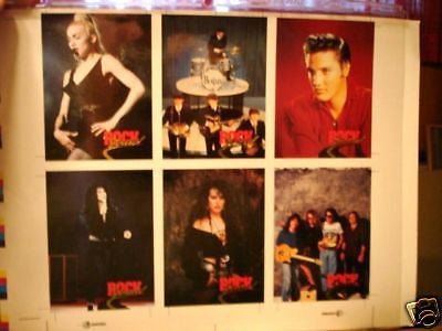 Beatles,Elvis,Madonna and more rare uncut card sheet 1990s