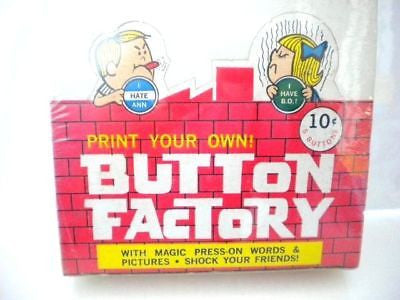 Button Factory rare full box 1960s