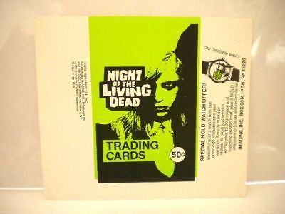 Night of the Living Dead movie cards rare Test issue wrapper 1990s