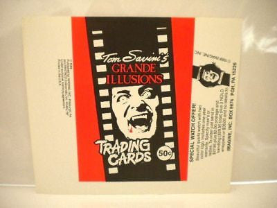 Horror Tom Savini Grand Illusion test wrapper 1990s