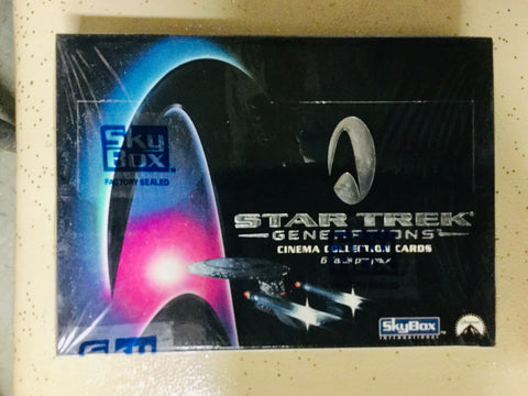 Star Trek Generations movie cards factory sealed box 1994