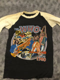 The WHO rare rock concert T-shirt 1980