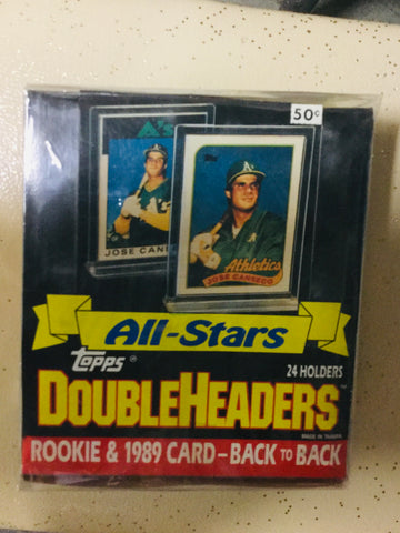 1989 Topps All-Stars Double Header baseball cards 24 ct box