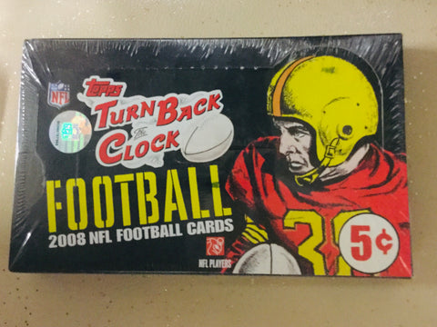NFL football cards Turn back the Clock factory sealed box