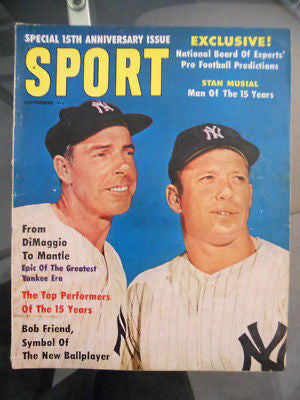 Sport Mantle/DiMaggio Baseball sports magazine 1960s