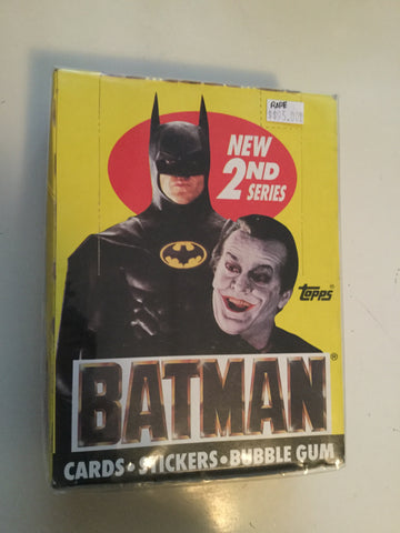 Batman Movie 2 Topps cards 36 packs box 1989