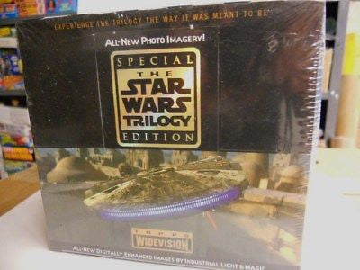 Star Wars Trilogy cards very rare full vintage box 1999