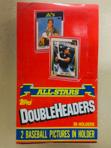 1990 Topps Allstars Doubleheaders Baseball  mini cards rare full box