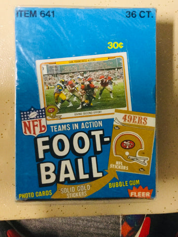 1982 NFL Football Teams in Action cards rare 36 packs box
