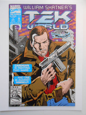 Tek World William Shatner rare #1 comic