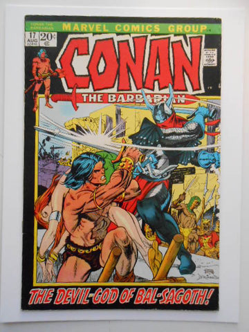 Conan the Barberian #17 Vf comic book 1970s