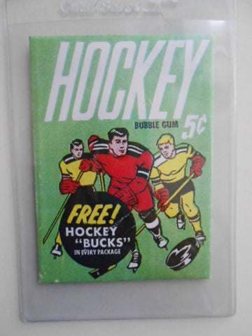 NHL hockey cards rare reproduction wrapper 1961