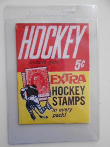 NHL hockey cards rare reproduction wrapper 1962