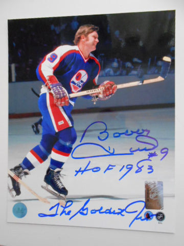 Bobby Hull WHA rare signed 8x10 photo w/COA