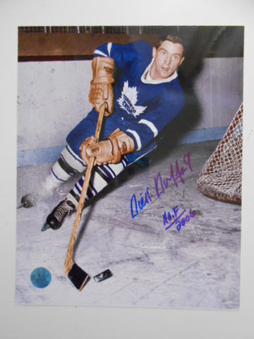 Dick Duff rare Leafs NHL signed 8x10 photo w/COA