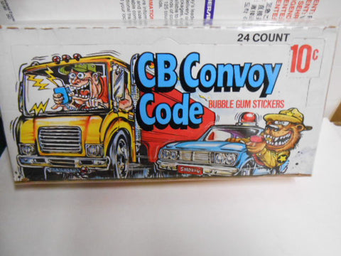 CB Convoy rare full vintage cards box 1970s