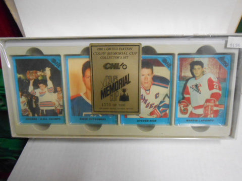 Memorial Cup Hockey rare numbered factory card set 1990