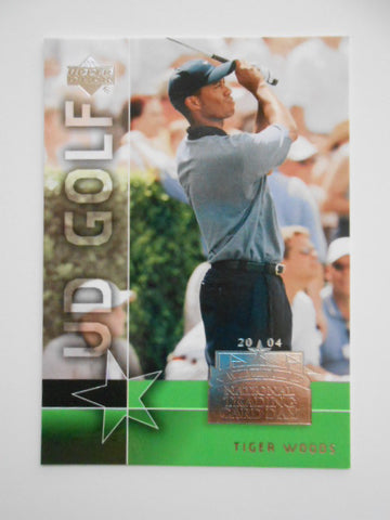Golf Tiger Woods UD rare limited issued card 2003