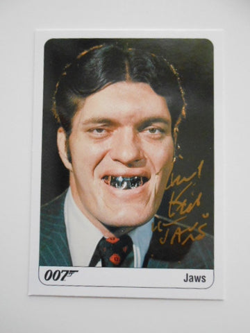James Bond Richard Kiel rare signed card w/COA