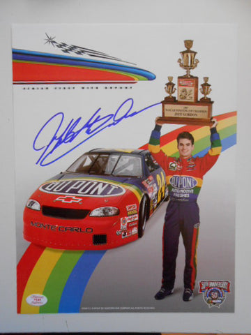 Nascar Racing Jeff Gordon signed 8x10 photo w/COA