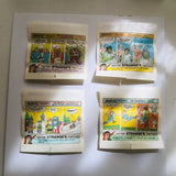Marvel comics superheroes sugar free gum four wrappers set 1979