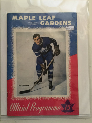 Toronto Maple Leafs NHL Hockey Program 1947
