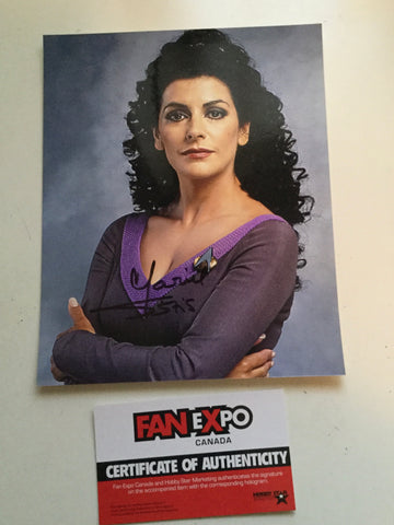 Star Trek Marina Sirtis signed photo Fanexpo certified