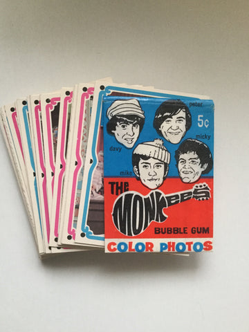 The Monkees Original cards set with wrapper 1967