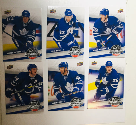 Toronto Maple Leafs Centennial Classic Team hockey cards set 2016-17
