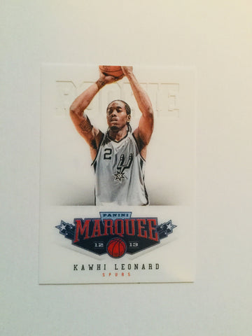Kawhi Leonard Panini Marquee basketball rookie card Toronto Raptors superstar