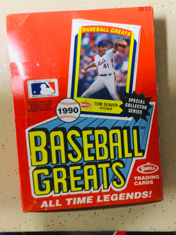 1990 Swell Baseball All Time great cards 36 packs box
