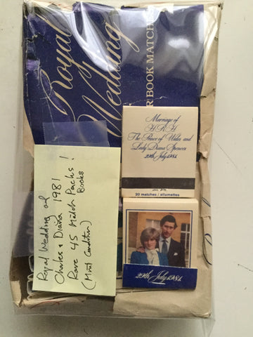 The Royal Family Wedding Prince Charles and Diana Rare 45 full match books lot deal 1981