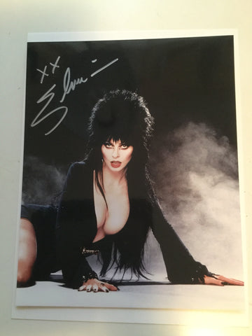 Elvira rare signed photo with Fanexpo COA