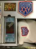 Super Bowl football XXV Anniversary Commerative collection
