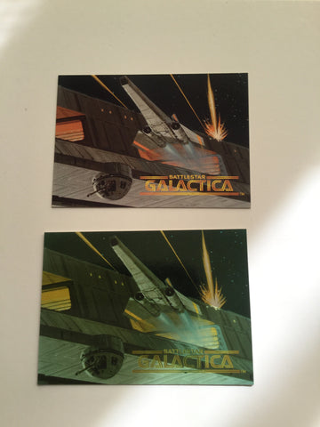 Battlestar Galactica two rare promo cards