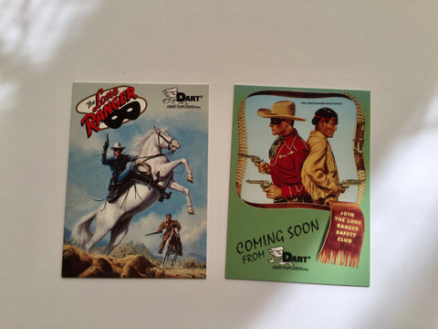 Lone Ranger rare two cards promo set
