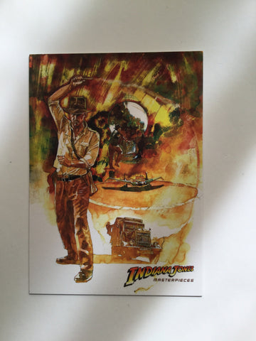 Indiana Jones masterpieces rare Topps promo card