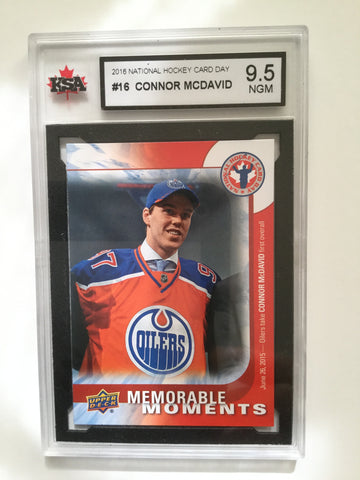 Connor McDavid NHL high graded 9.5 rookie card