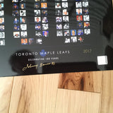 Toronto Maple Leafs 100 years signed Johnny Bower photos/COA