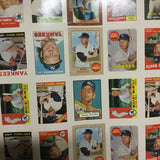 Mickey Mantle Topps anniversary cards uncut card sheet